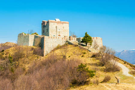 forte: An old military fortress, called \Forte Puin\, near Genoa (north of Italy) Stock Photo