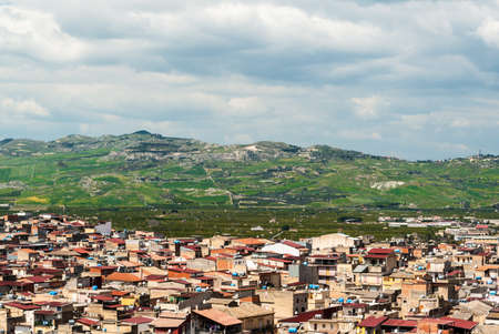 rural skyline: Skyline of a rural town in Sicily