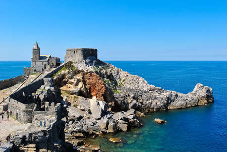 promontory: The promontory of Portovenere with the