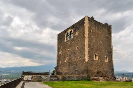norman castle: The norman castle of Patern, near Catania