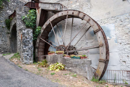 water mill: The wheel of a water mill