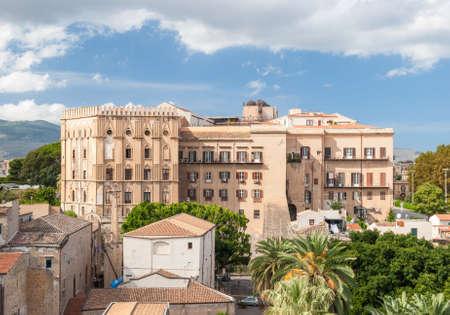 norman castle: Palazzo dei Normanni, the seat of the regional Sicily parliament, in Palermo Stock Photo