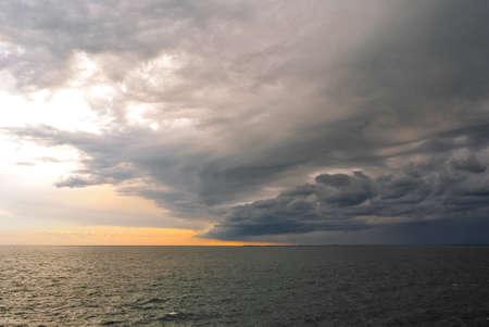 Turbulent stormy sky in Trieste Stock Photo