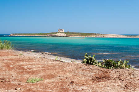 capo: The island of Capo Passero in southern Sicily during the summer Stock Photo