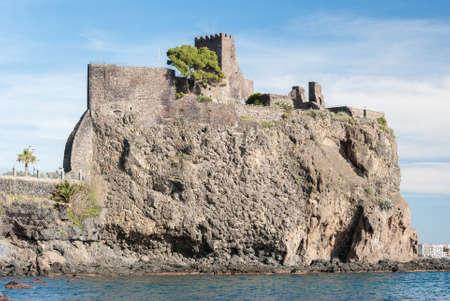 norman castle: The norman castle of Acicastello, in Sicily