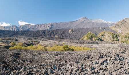 bove: The Valle del Bove, big desert lava valley in the eastern flank of volcano Etna Stock Photo