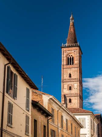 carmine: The bell tower of the church Santa Maria del Carmine in Pavia