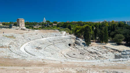 The greek theatre of Syracuse (Sicily)