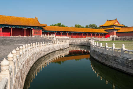 Forbidden City: Canal in the Forbidden City in Beijing (China)