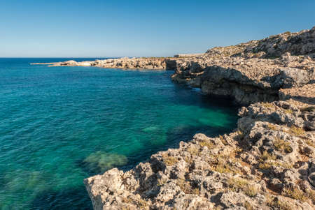 Coastline in the natural reserve of Plemmirio, near Siracusa (eastern Sicily) Stock Photo