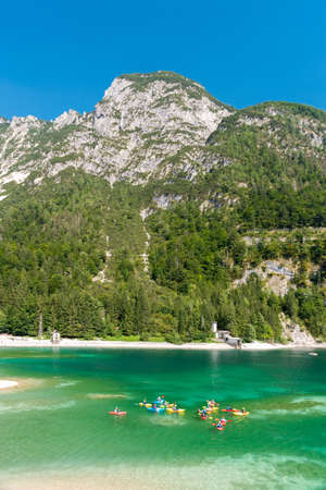 The lake of Predil, in the Julian Alps near Tarvisio, during the summer