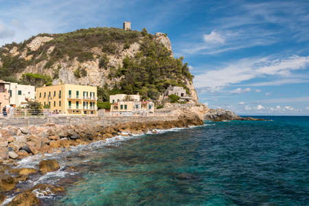 View of Varigotti, small sea village near Savona during a sunny afternoon