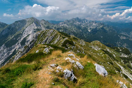 Panoramic view from mount Sija, in the Vogel ski center area (Slovenia)