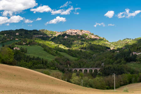 Hills in the Marche region (center Italy) with Urbino in the background