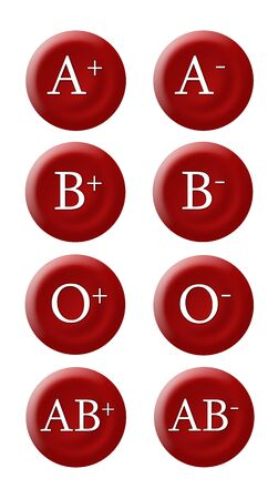 transfusion: Blood groups Stock Photo