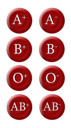 Grupos sangu�neos Foto de archivo - 6754457