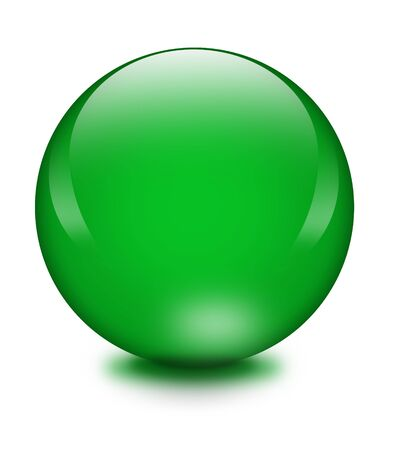 Green crystal ball photo