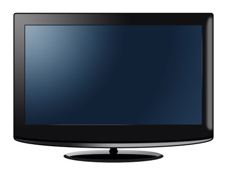 high definition television: Computer generated high definition television Stock Photo
