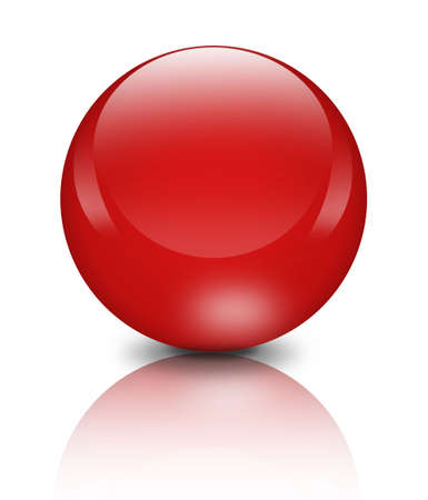 rollover: Red orb on white background