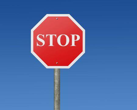 octagonal: Octagonal stop sign Stock Photo