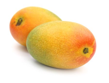 Two ripe Mangoes Stock Photo