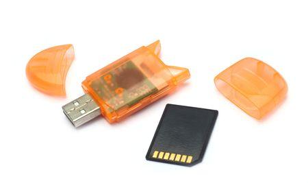 USB memory card reader photo