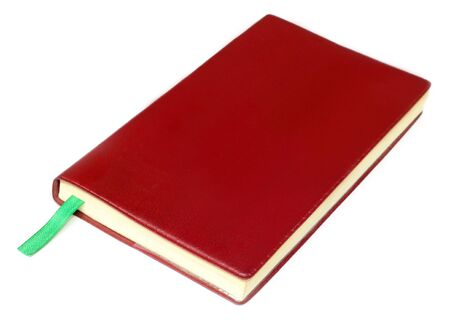 Diary isolated over white background photo