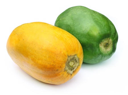 stock photographs: Two papayas