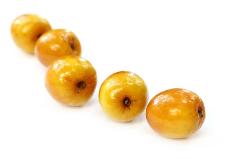 Fresh jujube fruits with selective focus photo