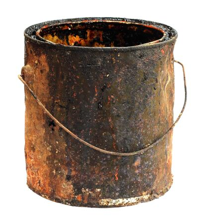 Old grungy bucket isolated over white background Stock Photo - 8854382
