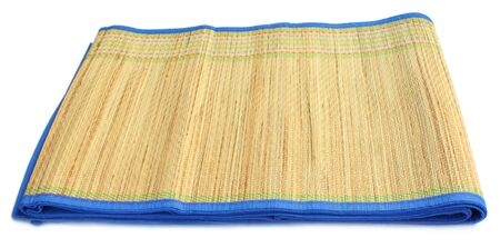 straw mat: Natural straw made floor mat of East Asia Stock Photo