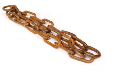 Old rusty iron chain Stock Photo - 10527090