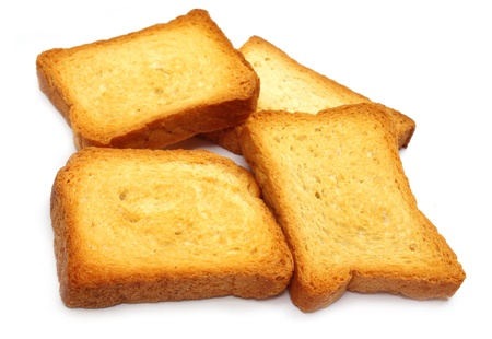 Toasted loavs over white background Stock Photo - 10527099