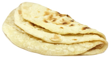 pakistani: Hand made roti bread of Indian subcontinent