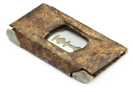 Grungy razor blade case Stock Photo - 11506682
