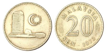 sen: Malaysian Coin of 20 SEN of 1973