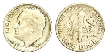 dime: One Dime Coin of USA of 1946