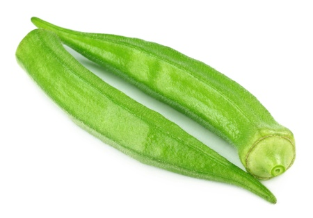 Okras on white background photo