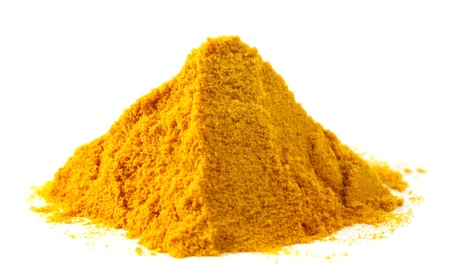 turmeric: Pile of ground turmeric Stock Photo