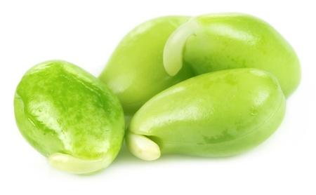 Edible seeds of hyacinth bean or Indian bean Stock Photo