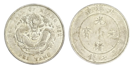 reign: Chinese Dragon coin of 34th Year of Kuang Hsu Reign