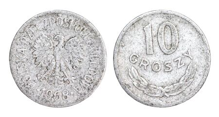 Old 10 Groszy Coin of Poland of 1968 photo