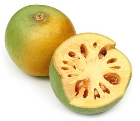 subcontinent: Medicinal Bael fruitsof Indian subcontinent Stock Photo