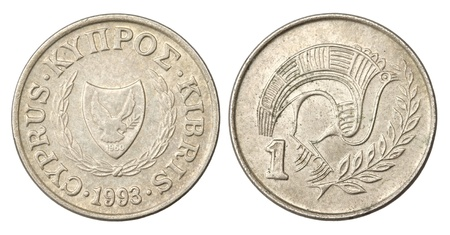 Cyprus 1 Cent Coin of 1993 photo