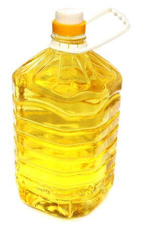 Soya bean oil on a container photo