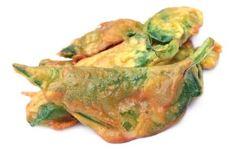 Fried Basella alba or malabar spinach photo