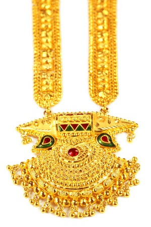 Famous Indian bridal Sita Har or Sita Necklace named after Hindu goddess Sita photo