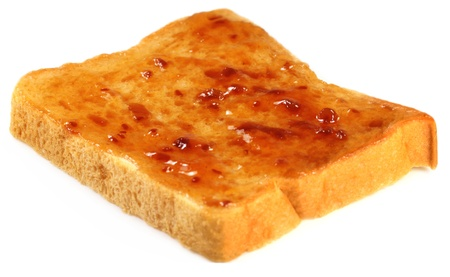 raspberry jelly: Slice of a loaf with raspberry jelly Stock Photo