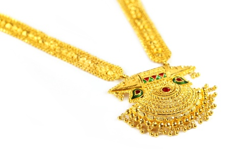sita: Famous Indian bridal Sita Har or Sita Necklace Stock Photo