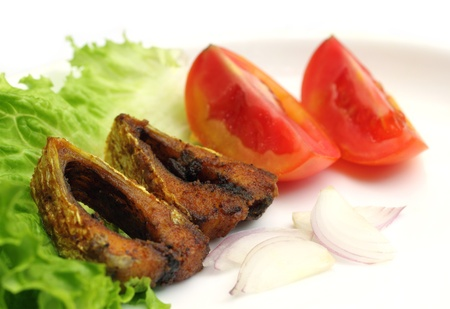Popular Ilish fish of Southeast Asia salad items Stock Photo - 17111957